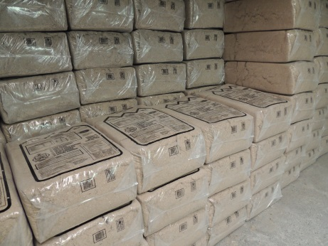 bags of super therm in the warehouse